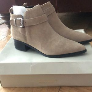 Marc Fisher Suede Ankle Boots (NWOT)